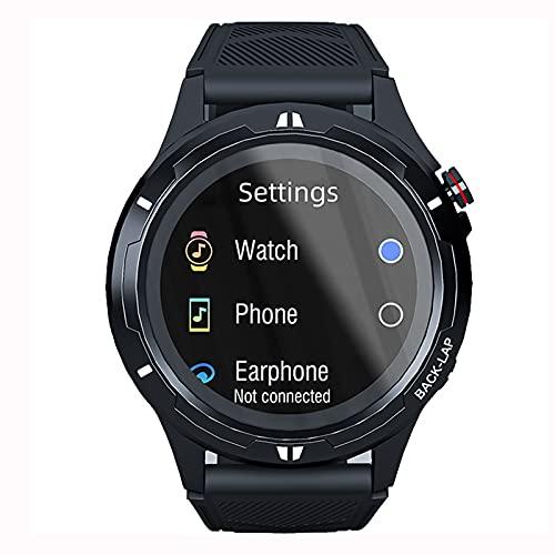 QFSLR Smartwatch Frecuencia Cardíaca Presión Arterial Monitoreo SPO2H Rastreador De Ejercicios Monitoreo del Sueño Llamada Bluetooth Impermeable Hombres Mujeres Reloj Inteligente Deportivo,Negro