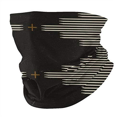 Decams Bandana máscara facial Southwestern minimalista negro blanco pasamontañas al aire libre a prueba de polvo resistente al viento multifuncional pañuelo para la cabeza para hombres y mujeres
