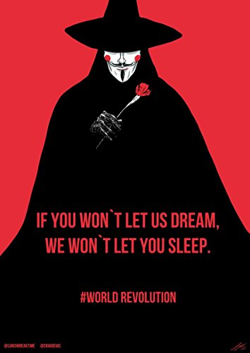 V For Vendetta Movie Poster 70 X 45 cm
