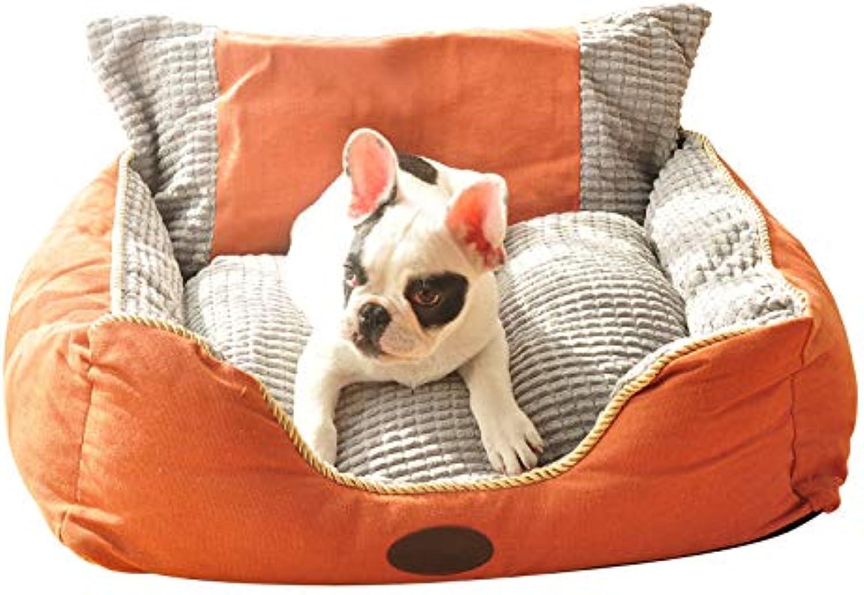 CHEN. Pet bed  kennel washable dog bed autumn and winter warm pet nest pet supplies,orange,XL