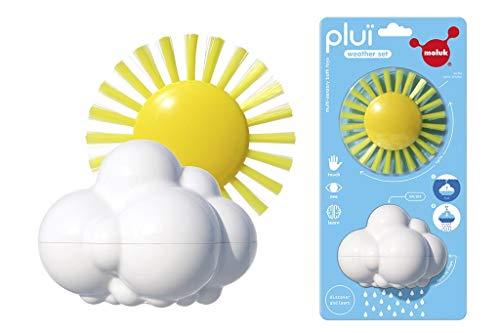 MOLUK 2843071 Plui Weather Set, Spielset Regenwolke und Spielbürste, Badewannenspielzeug, Lernspielzeug