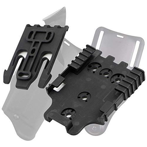RioRand Quick Locking System Kit with Duty Holster Locking Fork and Duty Receiver Plate Black