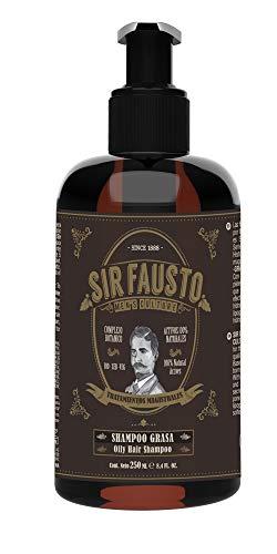 Sir Fausto Champú Grasa Tratamiento Magistral 250ml, Con BIO-SEB-VEG complejo botánico para el tratamiento de pieles y cabellos grasos.