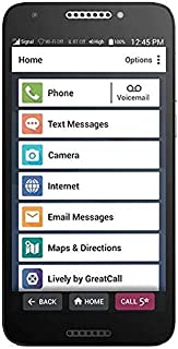 Jitterbug Smart2 No-Contract Easy-to-use 5.Smartphone for Seniors by GreatCall