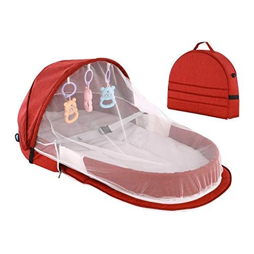 NHK-MX Cuna Portátil Mochila, Viajar Multifunción Proteccion para niños niñas Bolsa de Maternidad para bebé (Size : Gray)