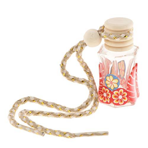 D DOLITY Estilo rústico Aire Ambientador Coche Perfume Ambientador Perfume Botella Colgante decoración