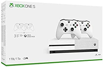 Black Friday: Xbox One S 1TB Bundle with 2 Controllers + 3 Month Game Pass - White