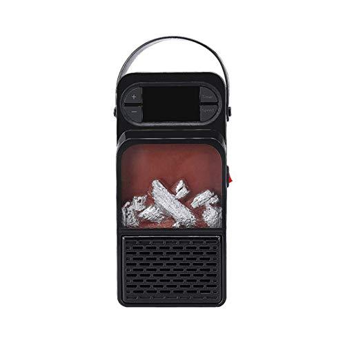 TYRIXEN Calentador De Ventilador, Personal Calentador Halógeno Portátil con Control Remoto 3 Configuraciones De Calor Protección contra El Calor Calefacción Baño Ahorro De Energía