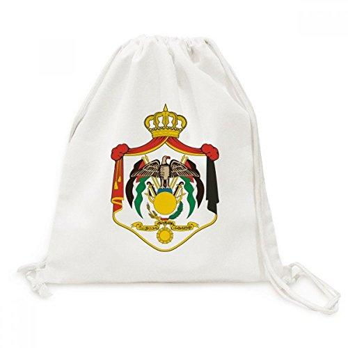 DIYthinker Herren Jordan National Emblem Land Canvas-Rucksack-Reisen Shopping Bags Einheitgrosse...
