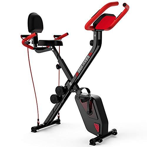 FWQAZ Bicicleta Estática Plegable Bicicleta de Ejercicio Entrenamiento Fitness, tonificación de Todo el Cuerpo, Cardio Trainer