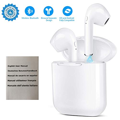 audífonos inalámbricos con Bluetooth Bluetooth 5.0 Mini Auriculares in-Ear con cancelación de Ruido Manos Libres para Conducir y Hacer Ejercicio for All Smartphones PC