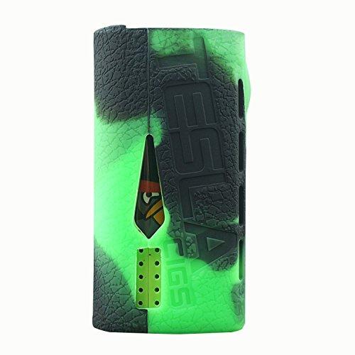 RUIYITECH, rivestimento per sigaretta elettronica Teslacigs WYE200W, custodia in silicone Black Green