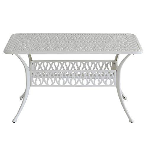 アルミ製レクタングルテーブル単品販売「トルペ」 アイボリーホワイト ALT-RE132-WHT(SST)
