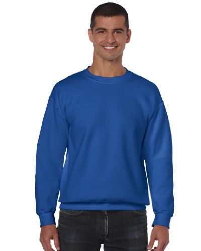 Gildan Herren 50/50 Adult Crewneck Sweat Sweatshirt, Blau (Royal Royal), S
