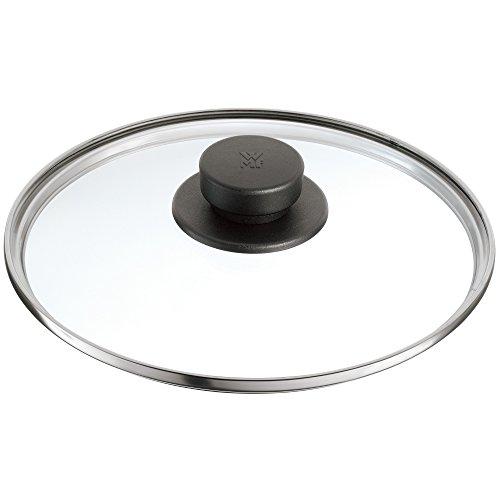 WMF Ersatzteil Glasdeckel 22 cm, Deckel für Schnellkochtöpfe 3,0l, 4,5l, 6,5l und 8,5l, hitzebeständiges Glas, Kunststoffgriff, spülmaschinengeeignet