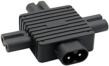 CY IEC 320 Figure 8 C8 Male to 3X Female C7 Splitter Power Adapter for Power Supply 1 in 3 Out
