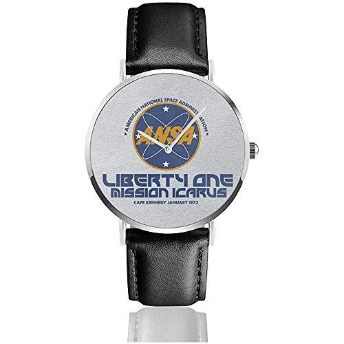Unisex Ansa Librety EIN Planet der Affen Uhren Quarz Lederuhr mit schwarzem Lederband