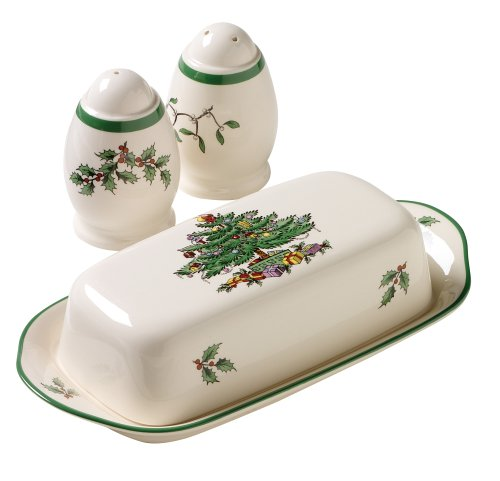 Spode Christmas Tree 3-Piece Hostess Set