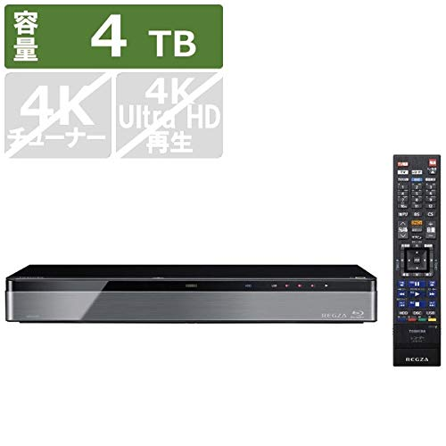 東芝 4TB HDD/3チューナー搭載 ブルーレイレコーダー(+7チャンネルまるごと録画可能) タイムシフトマシンTOSHIBA REGZA レグザブルーレイ DBR-M4008