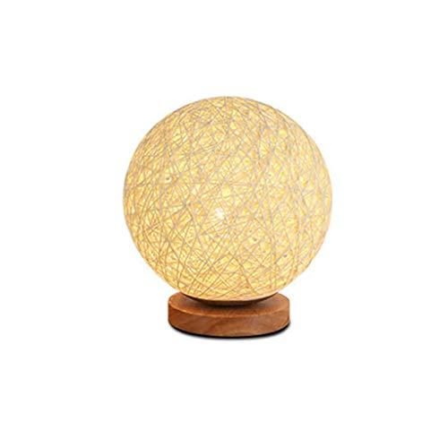 lámpara de Escritorio USB LED Lámparas de Mesa lámpara de cabecera del Dormitorio Escritorio Recargable Noche de la Bola de la lámpara Rota la luz del cumpleaños Lampara De Mesa lámp