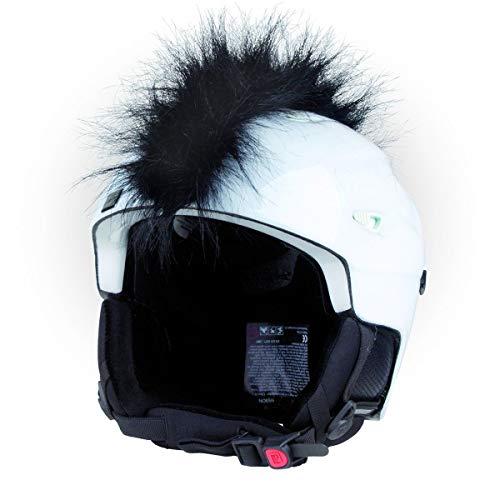 Crazy Ears Helm-Accessoires Irokese Mohawk Schwarz Weiß Pink Ski Snowboard, CrazyEars:Irokese Schwarz