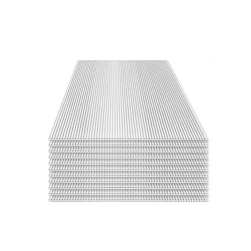 Home Deluxe - Hohlkammerstegplatten - UV-Geschützt - 14-teiliges Set | Hohlkammerplatten, Gewächshaus, Doppelstegplatte