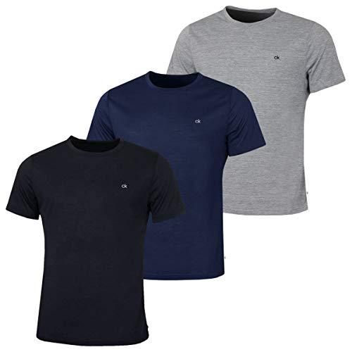 Calvin Klein Golf Herren 3-Pack-T-Shirt - Schwarz/Marine/Silber - M