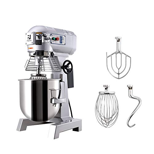 CO-Z Commercial Food Mixer 3 Speed, 30QT 1100W Stainless Steel Blender with Stainless Steel Bowl Dough Hooks, Pizzerias Schools Restaurants Bakeries