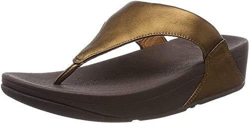 Fitflop Damen Lulu Toe Post-Leather Zehentrenner, Braun (Bronze 012), 39 EU