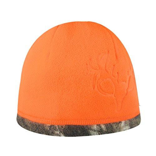 HOT SHOT Bonnet polaire réversible pour homme Taille unique Orange