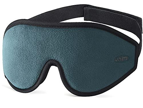 Unimi Schlafmaske für Damen und Herren, 3D-konturierte Augenmaske zum Schlafen, ultraweich, atmungsaktiv, 100{9d93d2bda938f161ecec326d10e30735e5cd5716bb3f67836d699af536bd03f7} Verdunkelung, Augenbinde für komplette Dunkelheit