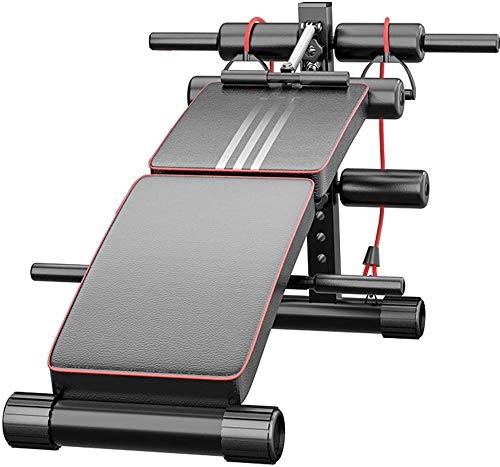 Banco de pesas ajustable multifunción para abdominales para entrenamiento de cuerpo completo, plegable, inclinación/declinación, para gimnasio en casa (128 x 60 x 47 cm)