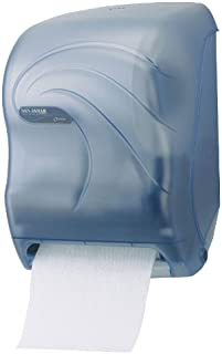 """San Jamar T1390 Oceans Tear-N-Dry Electronic Touchless Roll Towel Dispenser, Fits 8"""" Wide and 4"""" Diameter Stub Roll, 11-3/4"""" Width x 16-1/2"""" Height x 9-1/4"""" Depth, Arctic Blue"""