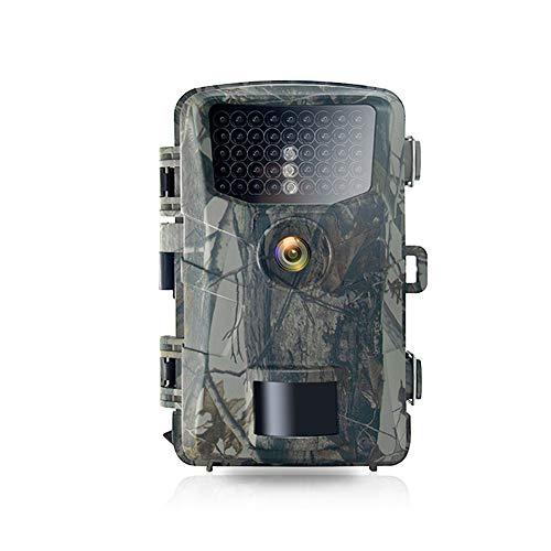 Jagdkamera, 48 MP Wildkamera mit 52° Weitwinkel-Bewegung, neueste Sensoransicht 0,3 s Triggerzeit Trail Game Kamera mit 940 nm No Glow und IP66 Wasserdicht 2,4 LCD 42 Stück für Wildtierüberwachung
