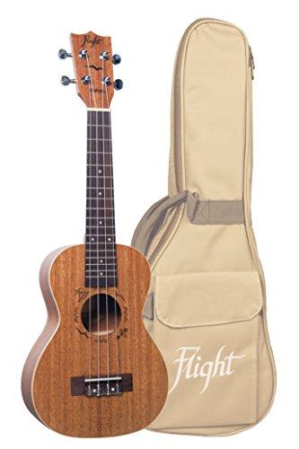 Flight DUC 323 Designer Series - Ukelele de concierto de caoba con bolsa de concierto