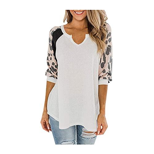 N\P camiseta de verano de manga larga con cuello en v