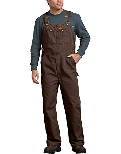 Dickies Men's Bib Overall, Rinsed Timber, 38x30