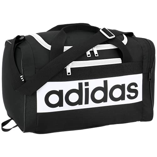 adidas Bolsa de Viaje Unisex Court Lite, Color Negro, Blanco, Talla única