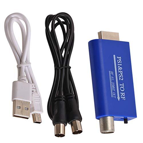 Ruiqas Ps1 / Ps2 zu Rf Wandler Ps Port Spielkonsole zu Kabel Tv Signal Rf Adapter Konverter