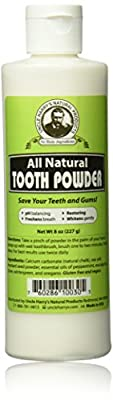 Uncle Harry's Natural Tooth Powder (8 Oz)