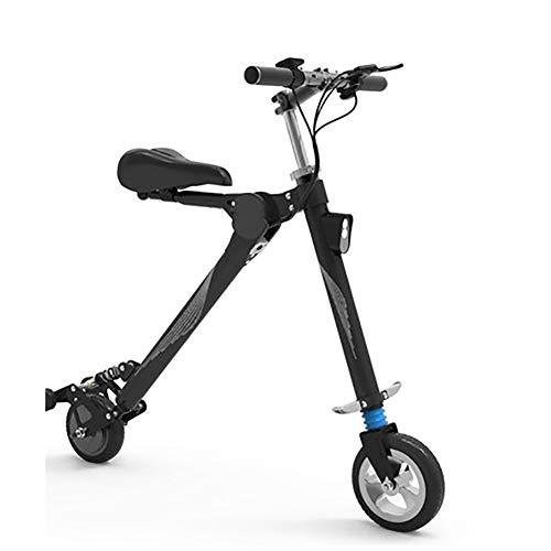 SOAR Patinetes para Niños E-Scooter rápido hasta 18 km/h, a 22 km de Largo Alcance, Capacidad de Carga 150 kg, Plegable (Color : Black)