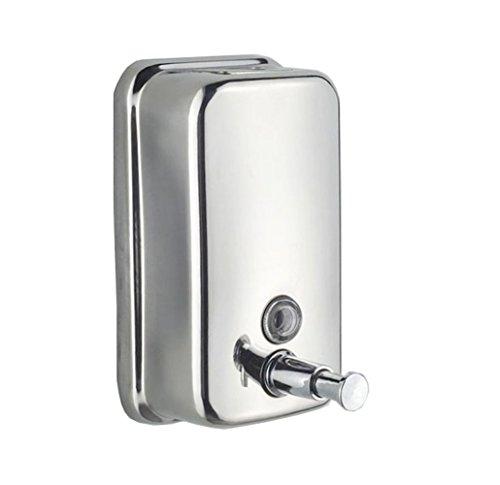 Simwood 500ml Dosatore dispenser sapone liquido bagno dosatore sapone muro parete Distributore di sapone medio in acciaio inox