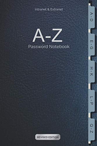 Intranet & Extranet A-Z Password Notebook: For storing sensitive Log-in details