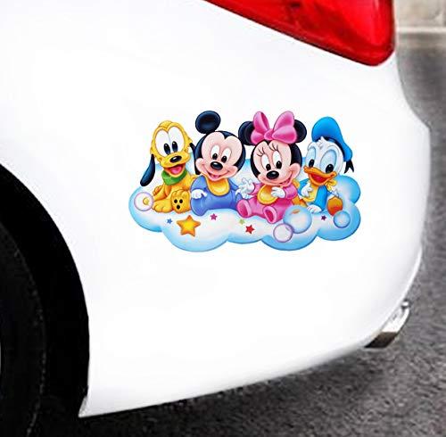 Baby Mickey Mickey Mouse Minnie Donald Duck Bruto Auto Décalque Dessin Animé Voiture Autocollant Voiture Rétroviseur Voiture Pare-Chocs Corps Vinyle