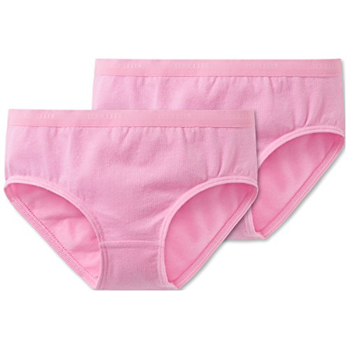 Schiesser Mädchen 95/5 Multi-Pack 2Pack Slips Unterhose, Rot (Rosa 503), 128 (2er