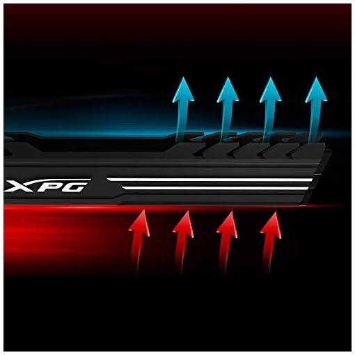 XPG GAMMIX D10 - Memoria DDR4 de 4 GB de 2400 MHz, overclocking con Intel XMP 2.0, diseño único de disipador de Calor… 5