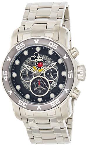 Invicta 23768 Disney Limited Edition - Mickey Mouse Reloj para Hombre acero inoxidable Cuarzo Esfera negro