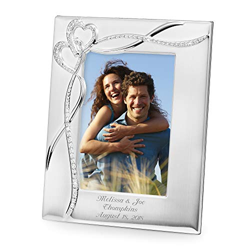 Things Remembered Personalized Intertwined Heart 5 x 7 Frame, Picture Frame with Engraving Included