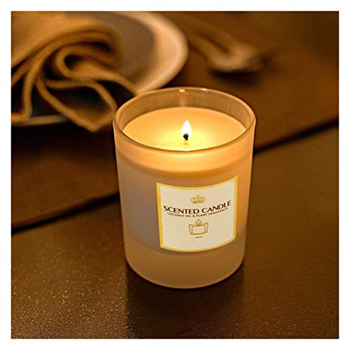 Broccoli21 Candles Scented Candle Candles Home Decoration Birthday Cake Romantic Wedding Jasmine/Rose Nordic Handmade Wax Soy Candles scented Scented Candles (Color : Jasmine)