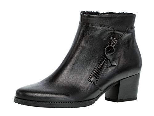 Gabor Damen Stiefelette 32.831, Frauen Ankle Boots,Stiefel,Halbstiefel,Bootie,knöchelhoch,Reißverschluss,schwarz(Nickif.),37.5 EU / 4.5 UK